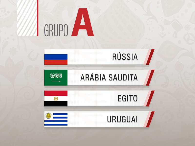 Grupo A: Uruguai é favorito; Egito e Rússia brigam por uma vaga