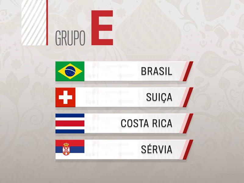 """Grupo E: Brasil """"favoritaço"""" e briga boa pela segunda colocação"""