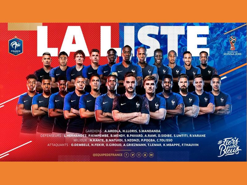 Análise da seleção francesa para a Copa do Mundo