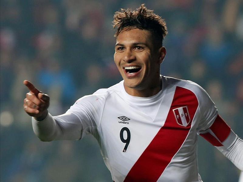 Paolo Guerrero e a seleção peruana