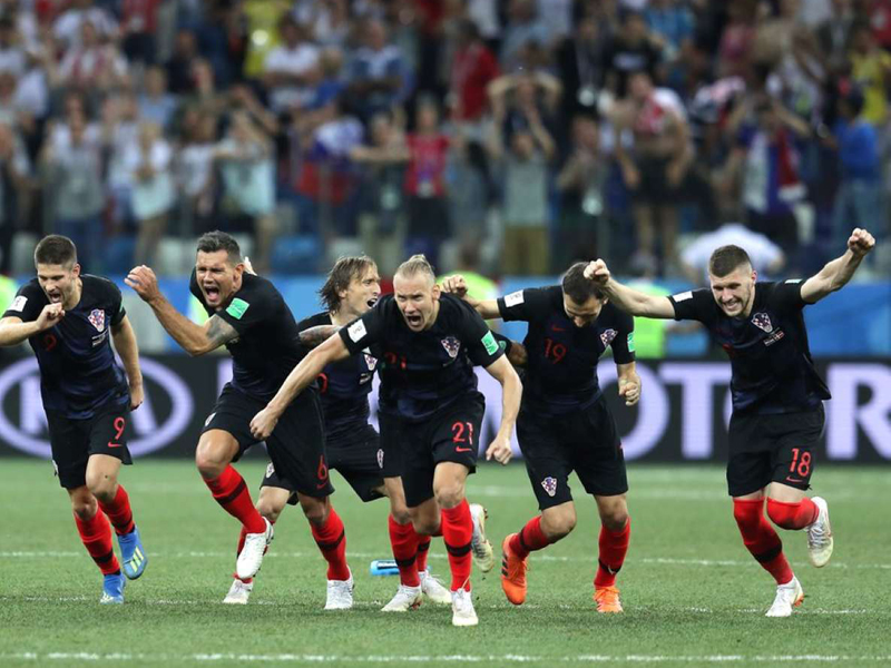 Croácia desbanca a Dinamarca e encara a Rússia nas quartas