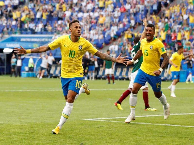 Neymar brilha, Brasil derrota o México e está nas quartas