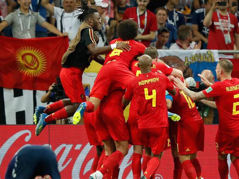 Bélgica sai perdendo, mas vira no último lance e enfrenta o Brasil nas quartas