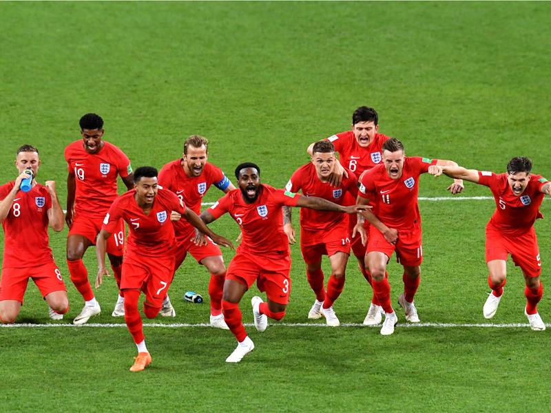 Inglaterra vence nos pênaltis pela primeira vez e elimina a Colômbia da Copa