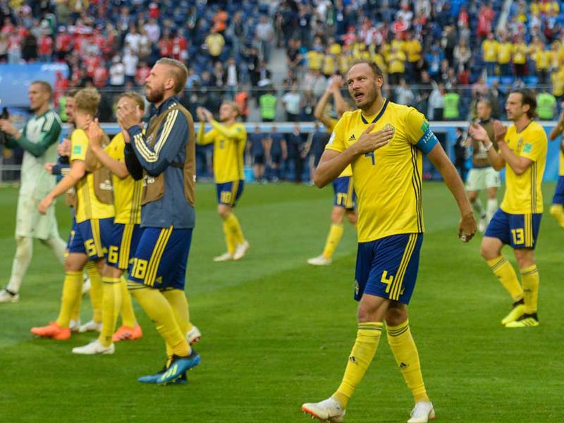 Suécia vence a Suíça e enfrenta a Inglaterra nas quartas de final