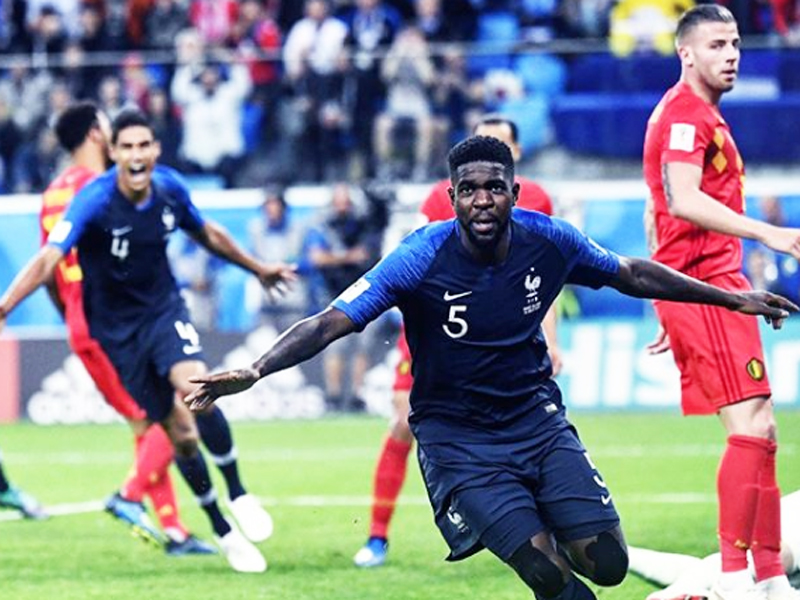 Craques franceses comemoram classificação para a final da Copa