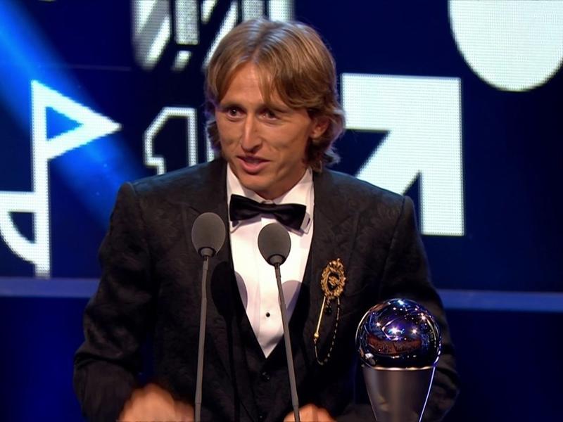 Modric é eleito o melhor jogador do mundo em 2018