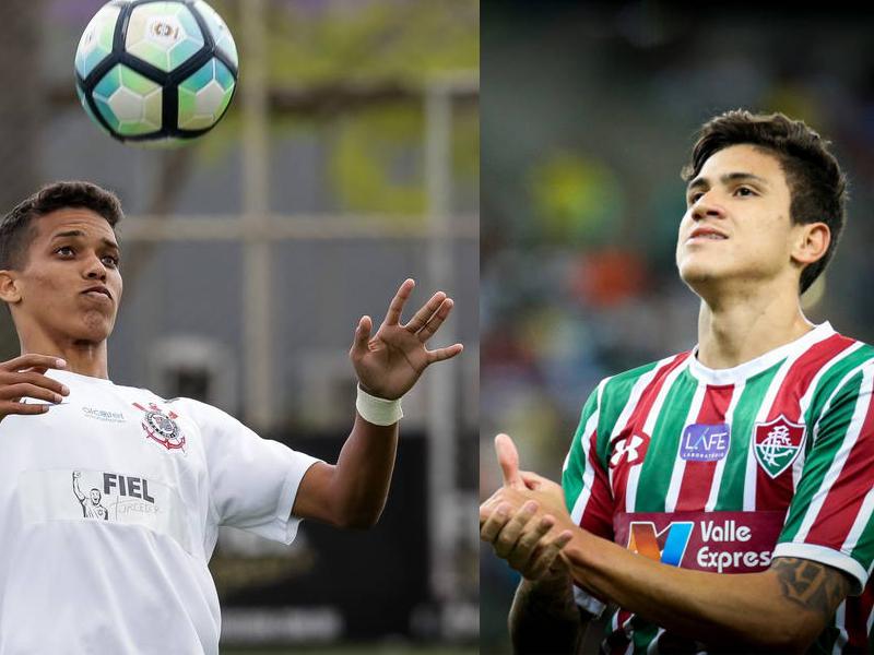 Dois jovens Pedros do futebol brasileiro se destacam