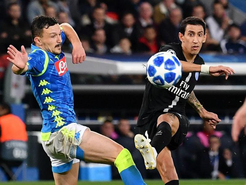 Di Maria salva PSG de derrota para o Napoli; Borussia atropela o Atlético