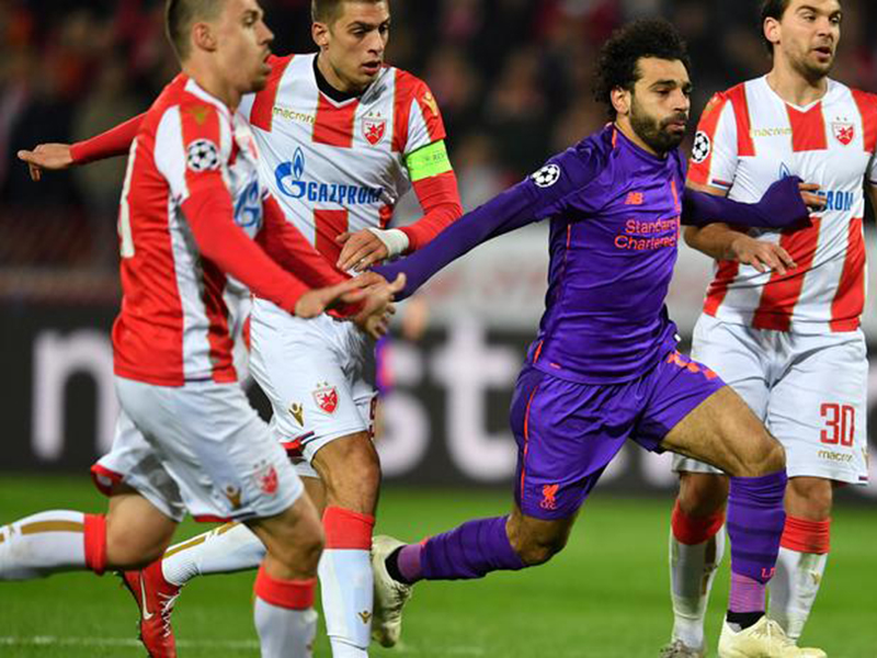 Champions: Liverpool é surpreendido pelo Estrela Vermelha; Napoli arranca empate com o PSG