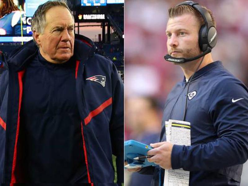 Super Bowl coloca frente a frente juventude de Sean McVay com experiência de Bill Belichick