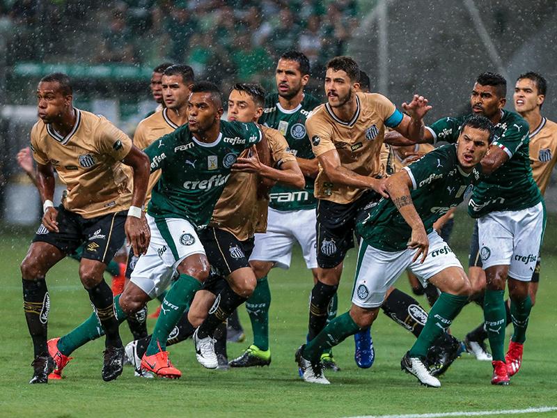 Palmeiras e Santos ficam no 0 a 0 no Allianz Parque