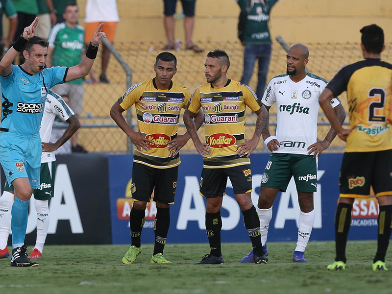 Com polêmica, Palmeiras fica no empate com o Novo Horizontino