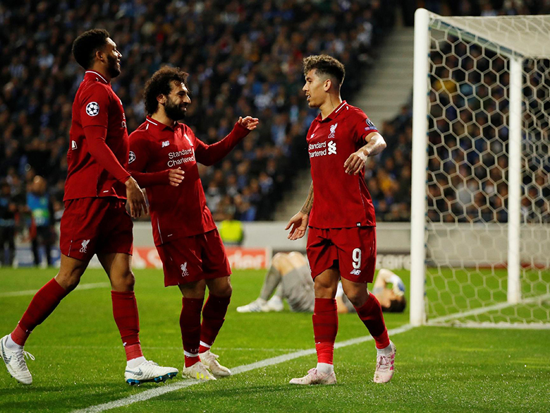 Liverpool goleia o Porto e agora encara o Barcelona nas semis da Liga dos Campeões