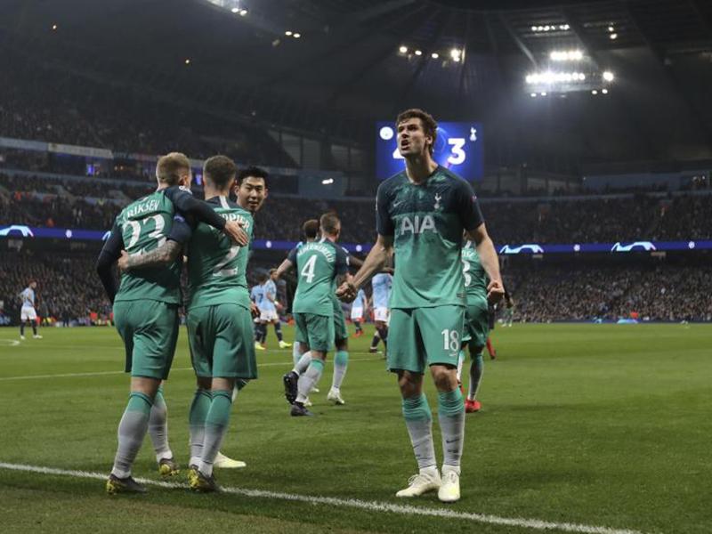 Tottenham segura o City em jogo maluco, com 7 gols e VAR, e está nas semis da Liga dos Campeões