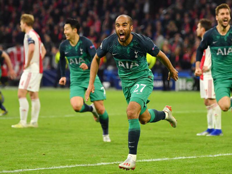 Lucas brilha e comanda virada épica do finalista Tottenham diante do Ajax