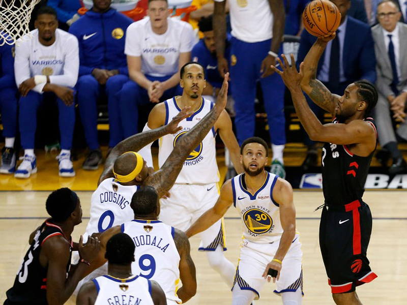 Raptors vencem um desfalcado Warriors e abrem 2 a 1 na final da NBA