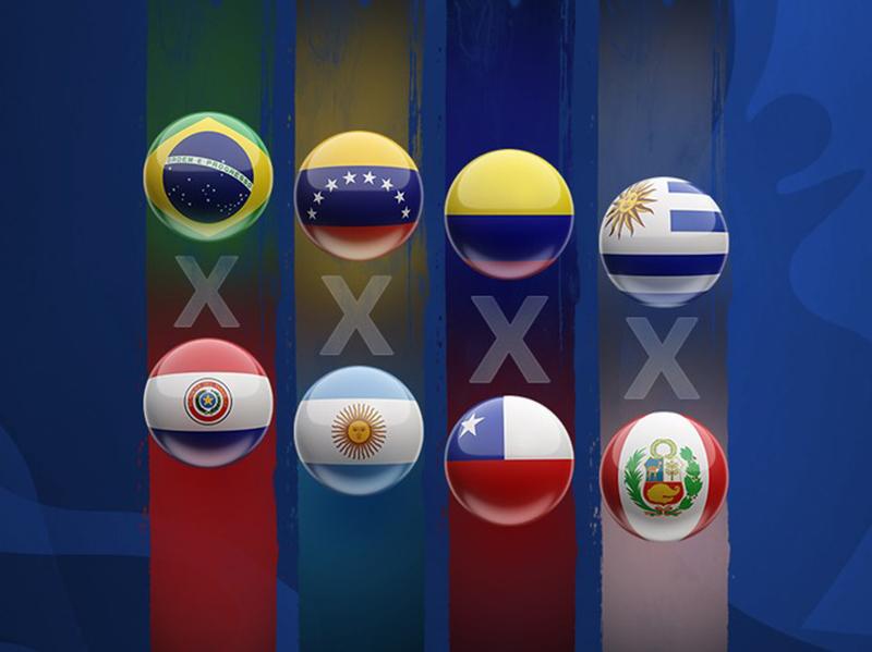 Confira os confrontos das quartas de final da Copa América