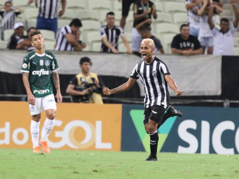 Ceará faz 2 a 0 e no Castelão e tira a invencibilidade do Palmeiras no Brasileirão