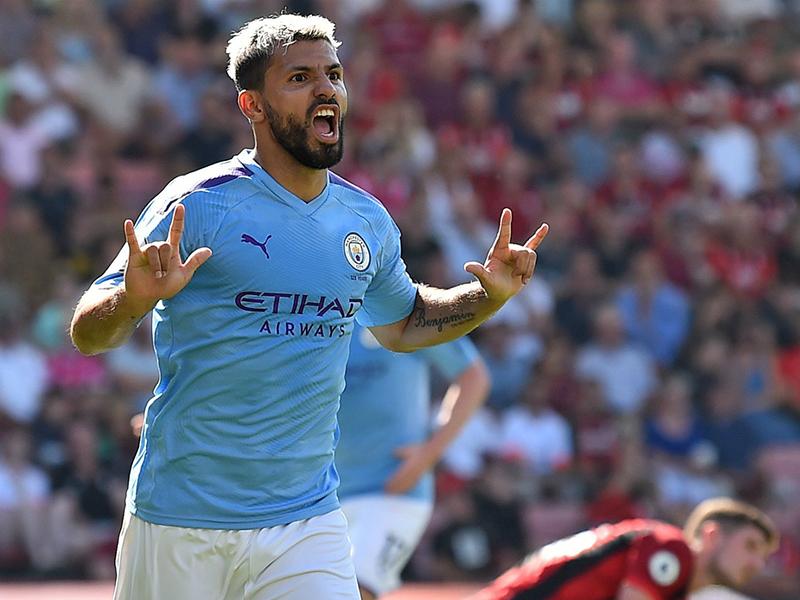 Agüero marca 400º gol e Manchester City vence AFC Bournemouth