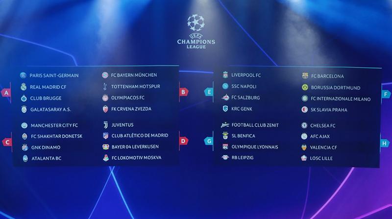 Sorteio define grupos da Liga dos Campeões