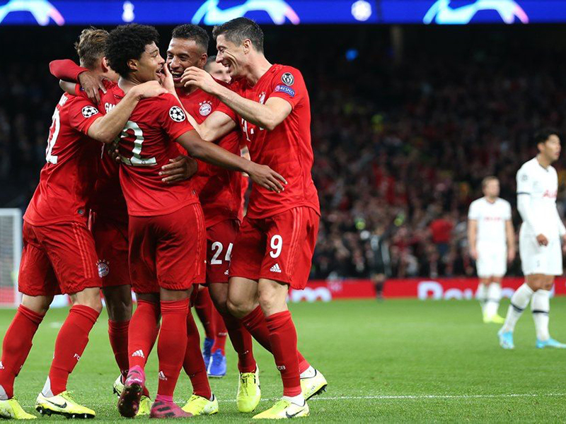 Sem piedade, Bayern atropela o Tottenham em Londres