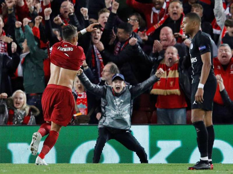 Firmino marca no fim e garante vitória do Liverpool sobre o PSG