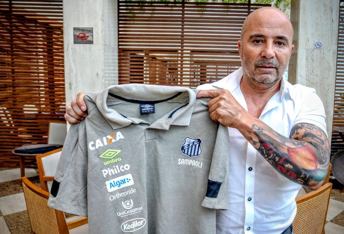 Sampaoli assina com o Santos por duas temporadas