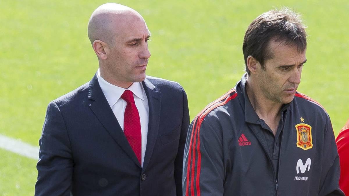 O presidente da Real Federação Espanhola de Futebol, Luis Ruibales demitiu o técnico Julen Lopetegui. (Foto: as.com)